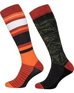 PROTEST - adventurer active snow socks 2 pack - Groendonker-Multicolour