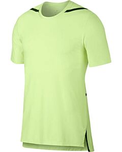 NIKE - m nk dry top ss tech pack - Geel-Multicolour