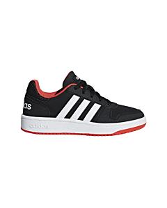 ADIDAS - hoops 2.0 k - Black/Black/White
