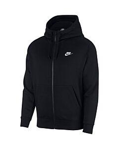 NIKE - m nsw club hoodie fz bb - Zwart