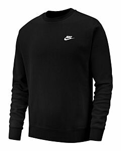 NIKE - nike sportswear club men's crew - Zwart-Wit