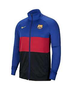 NIKE - fc barcelona men's track jacket - Blauw