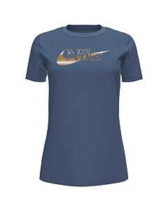 NIKE - nike sportswear women's t-shirt - Blauw