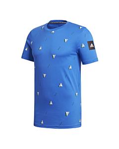 ADIDAS - mhe tee gfx 2 - Blauw-Multicolour