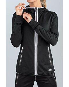SJENG SPORTS - lady hooded training jacket - Black/Black/White