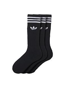 ADIDAS - solid crew sock - Zwart
