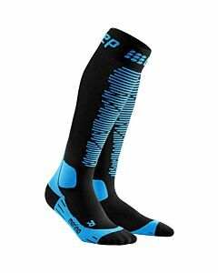 CEP - CEp ski merino socks men - Zwart-Blauw