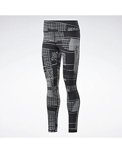 REEBOK - ts lux tight 2.0-deconstr - Zwart