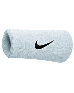 Nike Accessoires SWOOSH DOUBLEWIDE WRISTBAND WHITE-BLACK