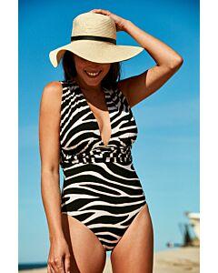 WOW - multiway swimsuit - Zwart-Wit