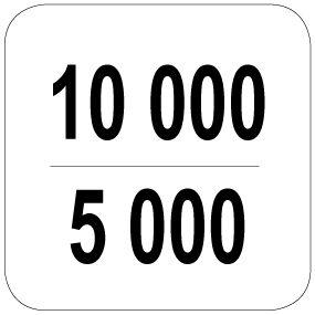 10000 / 5000